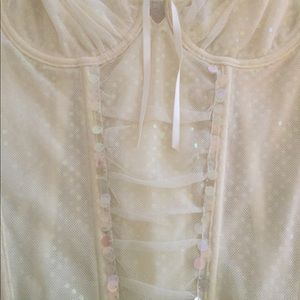 b829460db396b Cabernet Intimates   Sleepwear - Cabernet Ivory Sequin corset size 34B